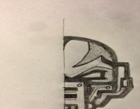 Droid mascot logo sketch