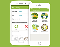 BabyCenter app - Feeding Guide Tool