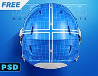 Free PSD Football Helmet Mockup