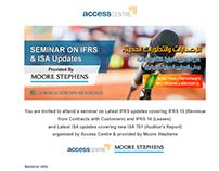 IFRS Seminar mailer campaign