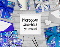 Moroccan seamless patterns set