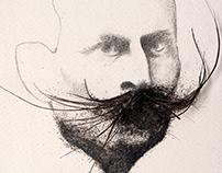 Dibujo de un hombre con bigote