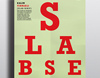 Slab Serif Specimen Posters/School Project