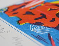 Cousteau | riso print