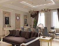 Interior design for first floor of private villa