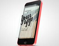 Phone 5c App Mock-up / 3D Visualization