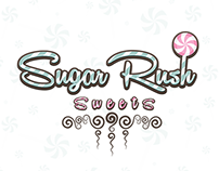 Sugar Rush Sweets Branding