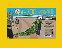 A- 705 - 16oz label
