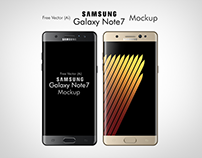 Free Vector Samsung Galaxy Note 7 Mockup In Ai & EPS