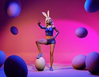 Eggomania – Virtual Model Easter Campaign