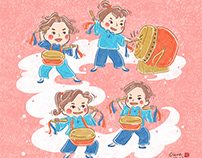 Chinese new year traditional culture, illustration