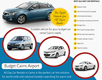 Car Hire Cairns Airport Budget | 1800707000 | alldaycar