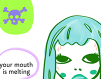 Your mouth is melting, comic, humor, halloween, poison