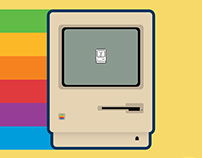 1986 Apple Macintosh 512K Illustration (2017)