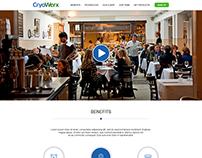 CryoWerx Landing page