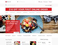 Menu.ca Online Restaurant Website Layout