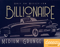Free Font - Billionaire Medium Grunge