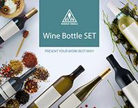 Wine Bottle SET Mockup