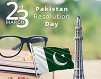 Pakistan Resolution Day - 23rd March Client Work