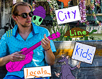 "City Line Kids ""Locals EP"" Album Design"