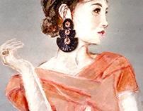 Fashion Jewelry / Pastel Drawing