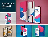 NoteBook & iphone 12 Mockup