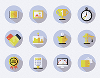 Flat Icon Set for Cosmonova