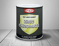 Isamu Zinc Chromate label design