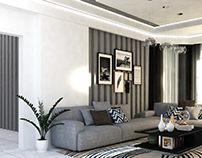 Interior design (living-dining-guest rooms)