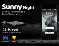 Sunny - UI KIT for Personal Blog & Photo Sharing App
