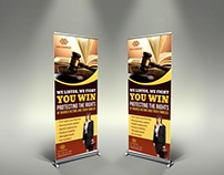 Law Firm Signage Banner Roll Up Template
