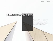 McAndrew watts UI/UX Design