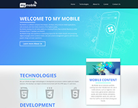 "Landing page ""My-Mobile"""