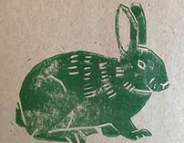 Bunny (linocut)