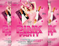 Pink Bash Flyer - Club A5 Template