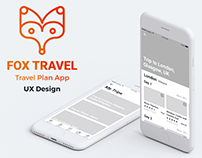 Fox Travel App UX Design