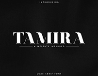 Tamira serif. Free font included