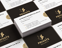 A A Private Security Brand Identity