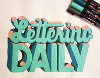 Lettering daily.