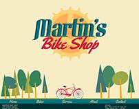 Martin's Bike Shop Website