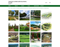 Takano Landscape Planning - website