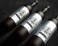 Horizontal Wine Bottle Mockup