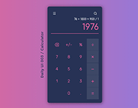 Daily UI 003 / Calculator