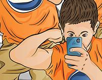 ilustración fitness man