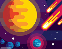 Flat Design Space Background