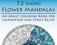 52 (more) Flower Mandalas: Coloring Book for Grownups