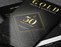 Elegant Golden Gift Cards Vol. 3