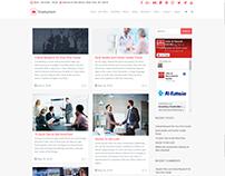 Blog Masonry Right Sidebar Page - Employment WordPress