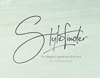Stylefinder signature font