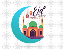 Eid Greeting _ free Vector